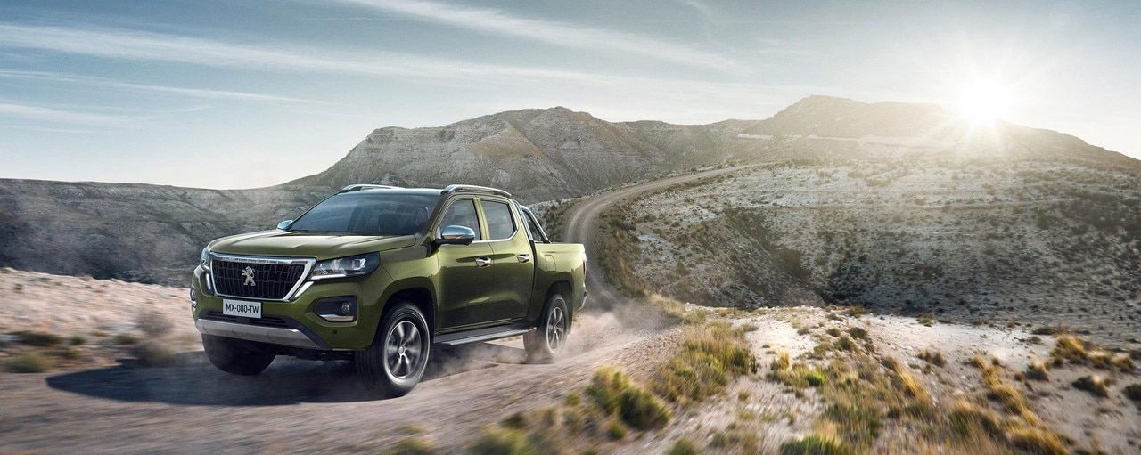 Nuevo pick-up PEUGEOT LANDTREK Multipurpose 4x4 capacidades de cruce cabina doble outdoor