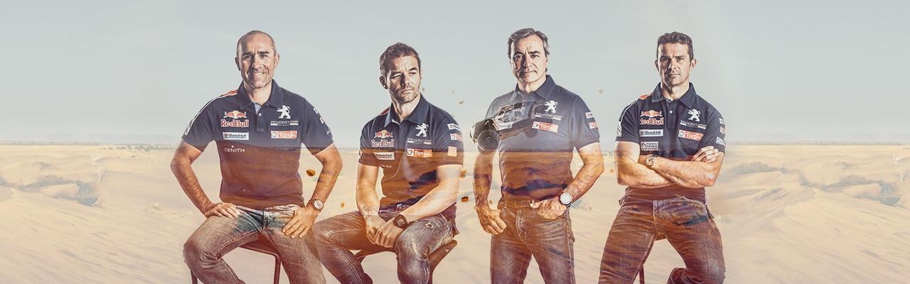 Pilotos del Team Peugeot Total