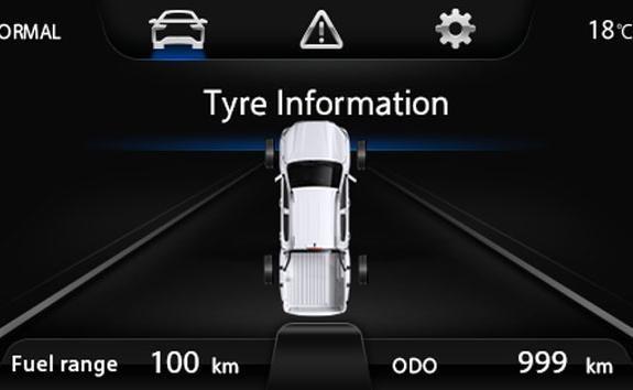 Nueva pick-up PEUGEOT LANDTREK - Control de presión de los 4 neumáticos